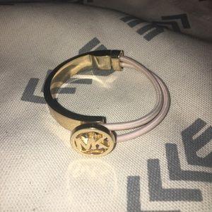 Michael Kors Gold and Pink Adjustable Bracelet